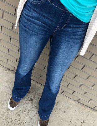 Dark Blue Flare Jegging