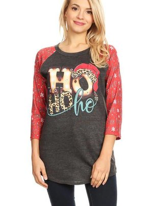 L& B Life HoHoHo Color Block Light Shirt