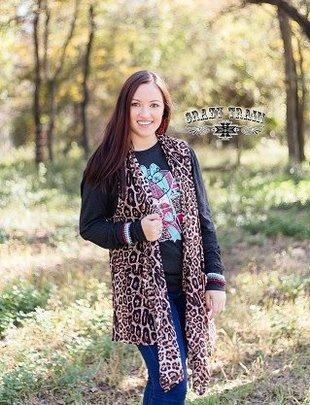 Crazy Train Vaya Con Dios Leopard Vest