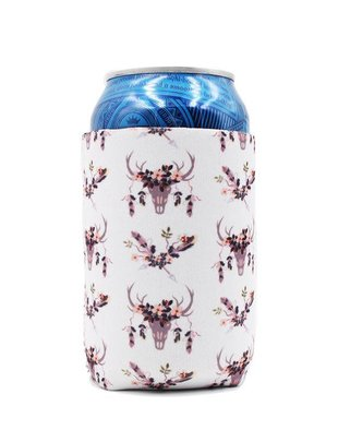 Lit Can Coolers White BOHO Can Cooler