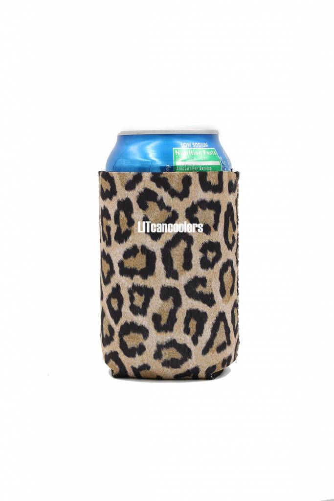 Lit Can Coolers Leopard Can Cooler