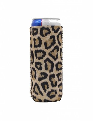 Lit Can Coolers Leopard Slim Can Cooler