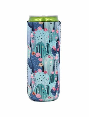 Lit Can Coolers Vintage Cactus Slim Can Cooler