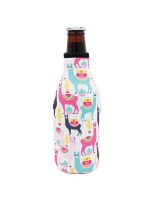 Lit Can Coolers Llama Drama Bottle Neck Cooler