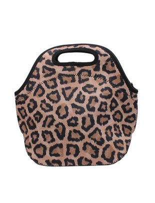 Lit Can Coolers Leopard Lunch Tote