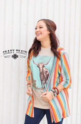 Crazy Train Harvest Colors Kimono