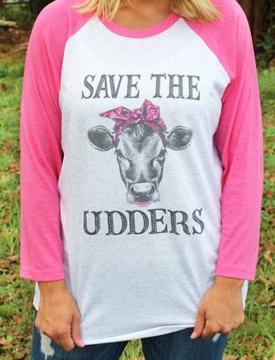 Save The Udders Pink BB Tee
