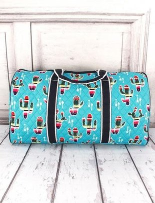 SERAPE CACTUS QUILTED DUFFLE BAG 21""