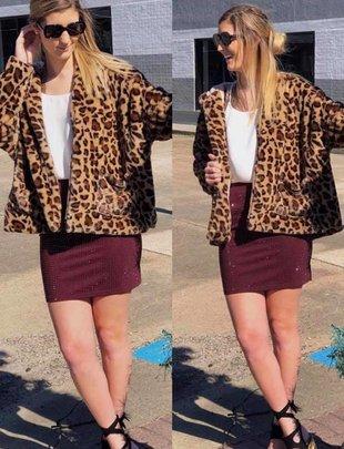 Leopard Hood Jacket