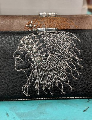 Black Indian Head Wallet