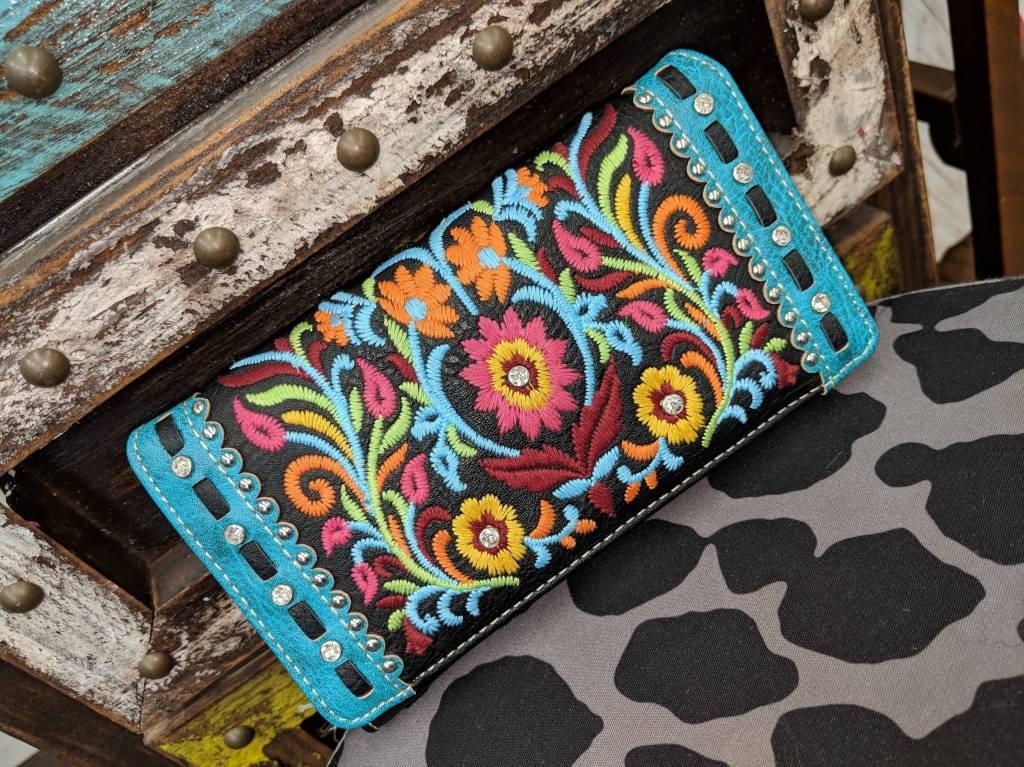Bright Color Black Wallet