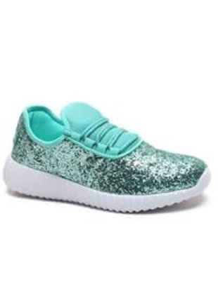 Turquoise Glitter Sneakers