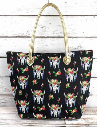 FREE SPIRIT STEER SHOULDER TOTE