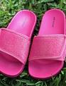 Kids Neon Pink Slides