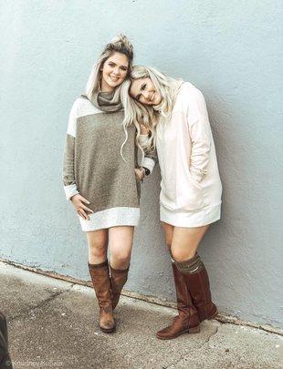 Wanna B Cozy Fleece Pullover Dress