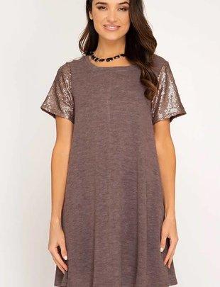 Sequin Sara Knit Dress
