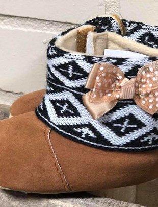 Girls Tan Fur Boots