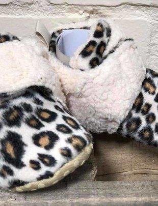 Girls Leopard Fur Strap Shoes