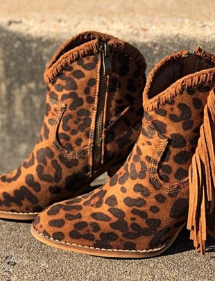 LA Showroom Leopard Ivanna Booties