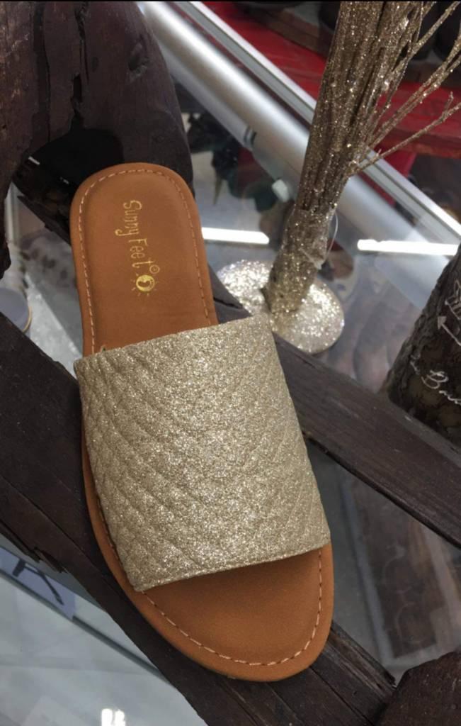 Gold Slip on Sandal