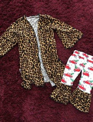 Kids Leopard Cardigan-LSS