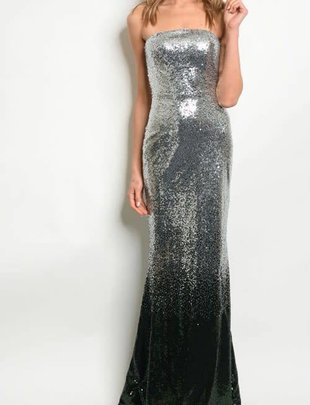 Strapless Sequin Ombre Dress