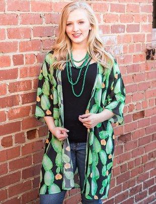 Southern Grace Cactus Makes Perfect Kimono