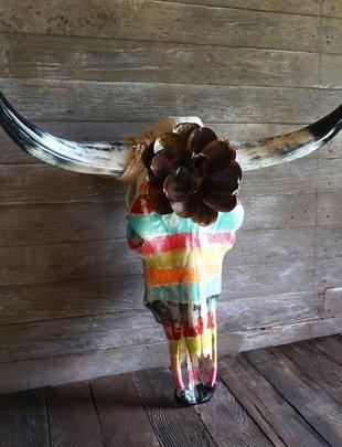 Sofia's Toro Grande Zarape Cow Skull-Colors May Vary