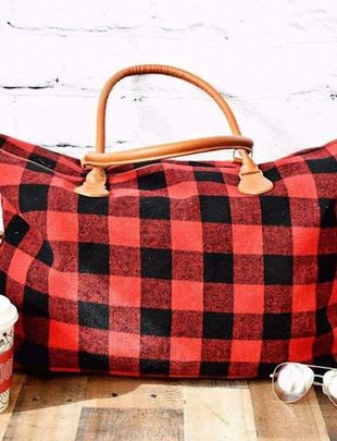 Oversized Buffalo Plaid Bag