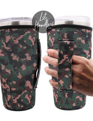 Lit Can Coolers Camo 24-30oz Handler