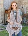 Crazy Train Mesa Fur Tan Vest
