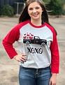 Back Road Beauties XOXO Truck of Hearts Tee