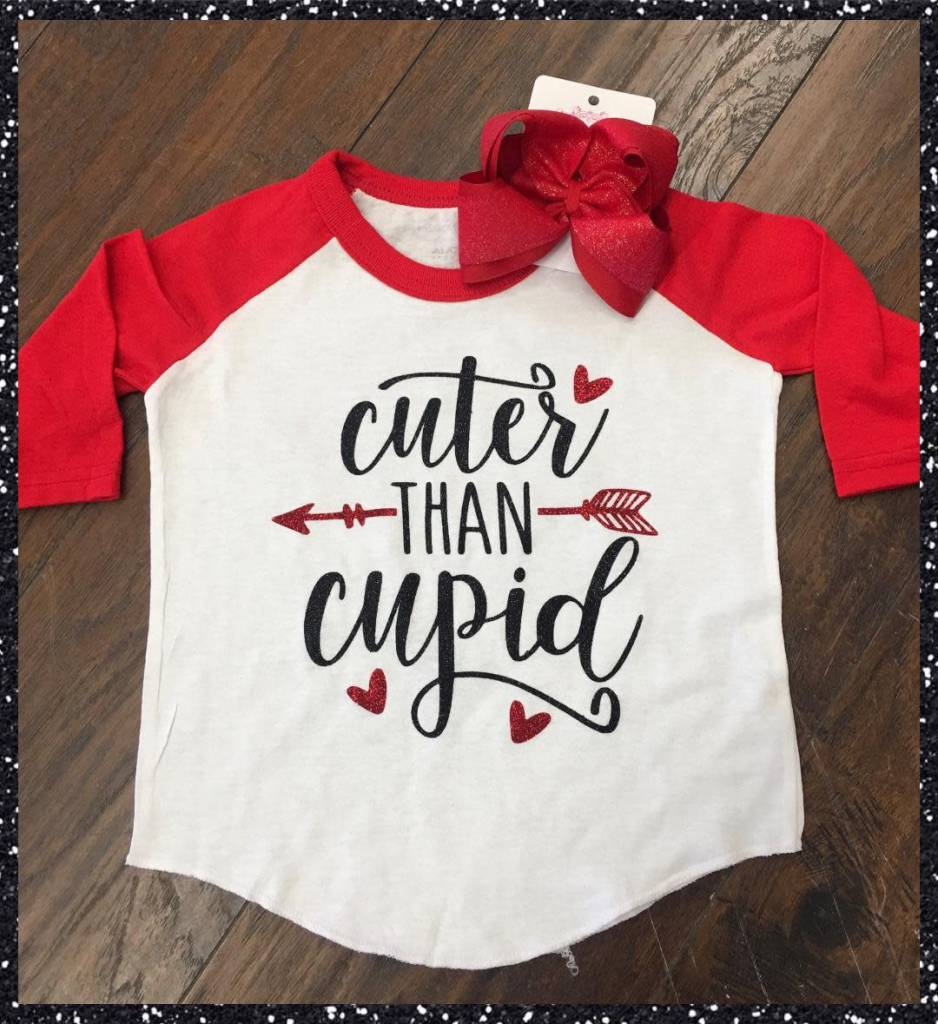 Back Road Beauties Kids Cuter Than Cupid Tee