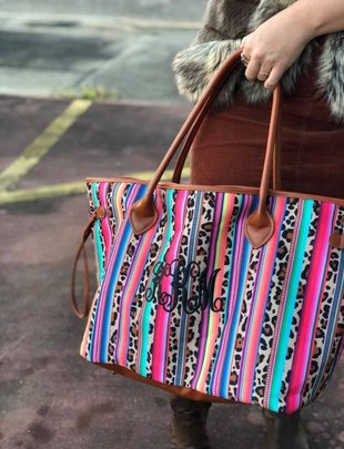 Serape/Leopard Bag