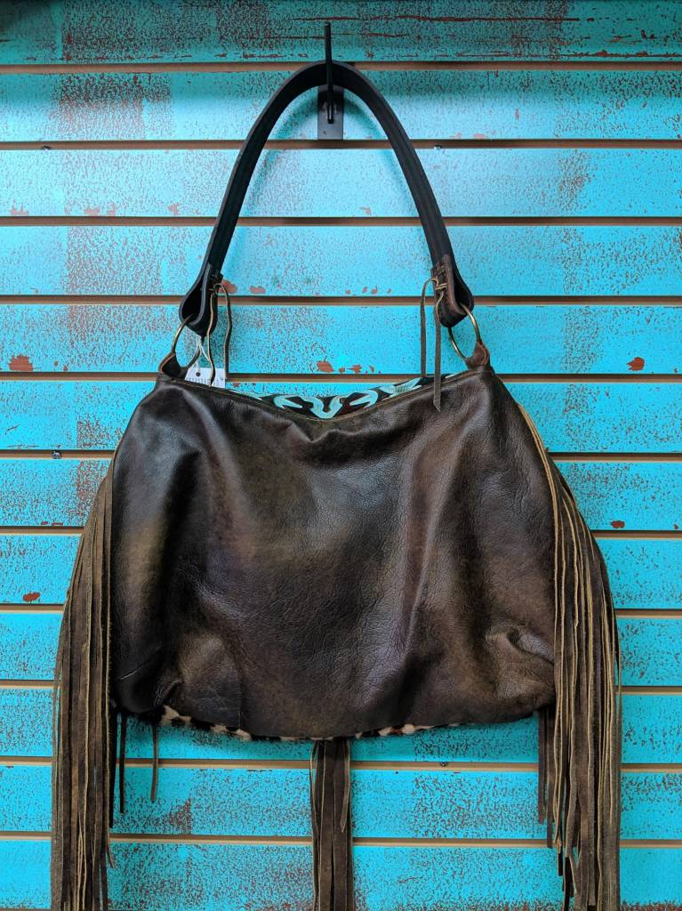 Keep It Gypsy Trudy Leopard Bag w/TQ/Brown LV Flip