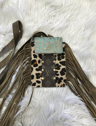 Keep It Gypsy Leopard/LV/TQ Phone Crossbody Bag