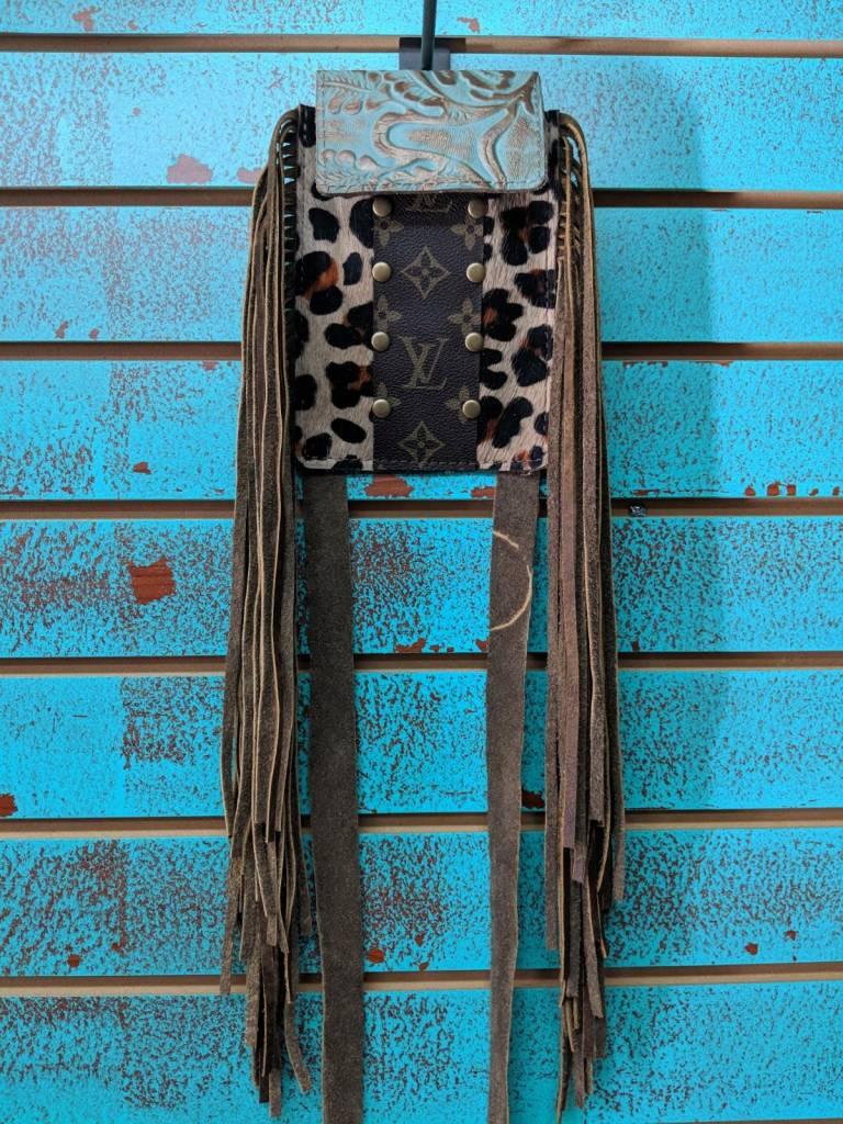 Keep It Gypsy Leopard/LV/TQ Phone Crossbody Bag