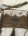 Keep It Gypsy Maxine Brown Tooled Body w/ Tan & Brown Tooled LV Flap