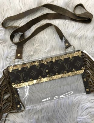 Keep It Gypsy Clear LV Patch Stadium Bag