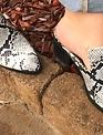 Snakeskin Mules