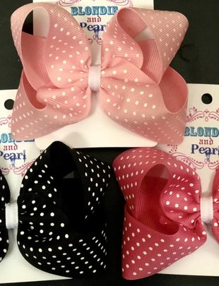 Blondie and Pearl Boutique Swiss Dot Bow