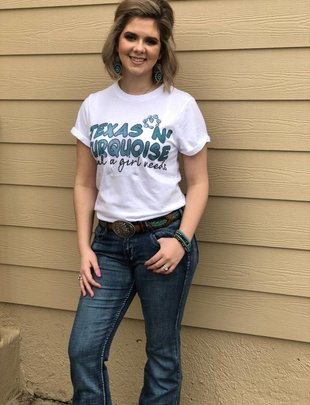 "Annette's Gina""Texas n Turquoise"" Tee"