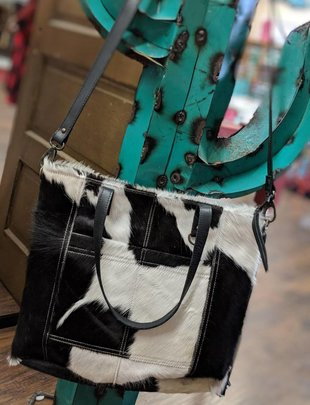 Black/White Cowhide Purse