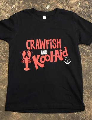 Back Road Beauties Kids Crawfish and Kool-Aid Tee