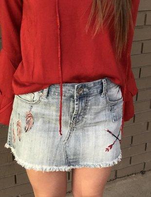 Cowgirl Tuff Free Spirit Denim Skirt