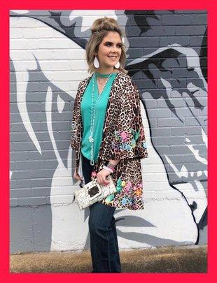 Wild Spirit Leopard Kimono