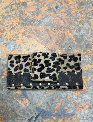 Keep It Gypsy Leopard Large LV Wallet