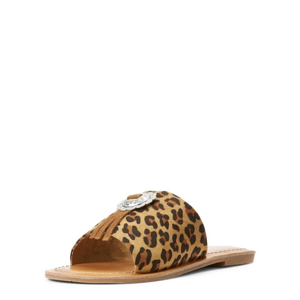 Ellie Leopard Slide On Sandal