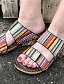 Volatile Spring Serape Two Band Wedge