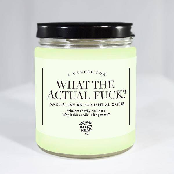 Whiskey River Soap What the Fuck Candles